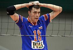 14-07-2000 VOLLEYBAL: WLV BRAZILIE - JOEGOSLAVIE: ROTTERDAM<br /> Joegoslavie wint met 3-0 / Igor Vusurovic<br /> ©2000-FotoHoogendoorn.nl