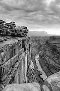A black and white image of Toroweap at the Grand Canyon. Missoula Photographer