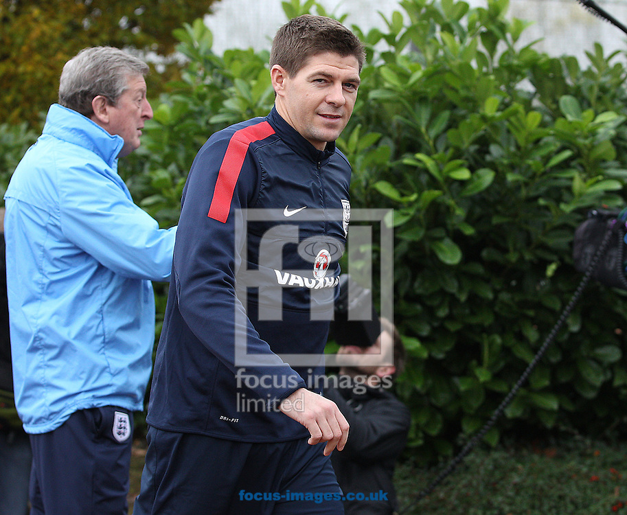 Picture by Paul Terry/Focus Images Ltd +44 7545 642257<br /> 18/11/2013<br /> Steven Gerrard during England Training at London Colney, London.