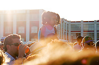A young girl watches a Big Frieda concert in the Bayou of New Orleans at the Bayou Bugaloo on Saturday, May 17, 2014.