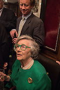 HAL CAZALET; LADY HORNBY, David Campbell Publisher of Everyman's Library and Champagen Bollinger celebrate the completion of the Everyman Wodehouse in 99 volumes and the 2015 Bollinger Everyman Wodehouse prize shortlist. The Archive Room, The Goring Hotel. London. 20 April 2015.