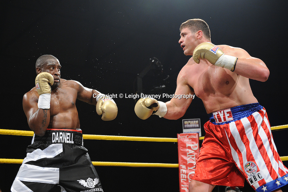 Tye Fields defeats Michael Sprott in Quarter Final 3 at Prizefighter International on Saturday 7th May 2011. Prizefighter / Matchroom. Photo credit © Leigh Dawney. Alexandra Palace, London.