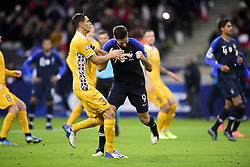 November 14, 2019, Paris, France, France: joie des joueurs de l equipe de France apres le but de Olivier Giroud (Fra) sur penalty (Credit Image: © Panoramic via ZUMA Press)