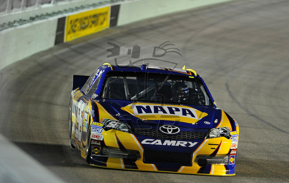 Homestead, FL - Nov 16, 2012: The Nascar Cup Series takes to the track during qualifying for the Ford ECOBOOST 400 at the Homestead-Miami Speedway in Homestead, FL.