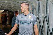 Leeds United defender Barry Douglas (3) arriving during the EFL Cup match between Leeds United and Stoke City at Elland Road, Leeds, England on 27 August 2019.