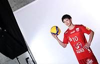 Volleyball 1. Bundesliga  Saison 2019/2020  Media Day Fotoshooting  TV Rottenburg  06.09.2019 Taichi Kawaguchi mit Ball