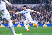 Jack Harrison of Leeds United (22) shoots during the EFL Sky Bet Championship match between Leeds United and Bolton Wanderers at Elland Road, Leeds, England on 23 February 2019.