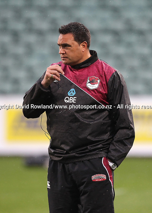 North Harbour`s Head Coach Steve Jackson before the ITM Cup Rugby Match, North Harbour v Manawatu, QBE Stadium, Auckland, New Zealand, Friday, September 12, 2014. Photo: David Rowland/Photosport