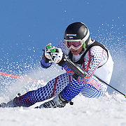 Oscar Andersson, Sweden, in action during the Men's Giant Slalom competition at Coronet Peak, New Zealand during the Winter Games. Queenstown, New Zealand, 22nd August 2011. Photo Tim Clayton