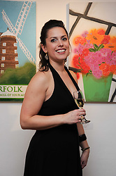 Artist KATE ENTERS at a private view of her paintings held at 9 Adam Street, London on 13th January 2010.