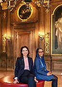 Museum Director Emilie Gordenker and Paintings Conservator Abbie Vandivere at the Mauritshuis museum in The Hague, the Netherlands on February 15, 2018