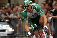Sykkel<br /> Tour de France 2003<br /> Prolog Paris 05.07.2003<br /> Thor Hushovd - Norge - Credit Agricole<br /> Foto: Digitalsport