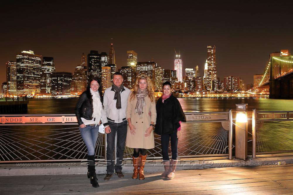 Friends in Brooklyn Bridge Park.
