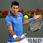 A fourth round match between Novak Djokovic and John Isner on Stadium 1 during the 2015 BNP Paribas Open in Indian Wells, California on Wednesday, March 18, 2015.<br /> (Photo by Billie Weiss/BNP Paribas Open)