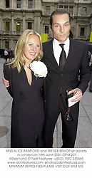 MISS ALICE BAMFORD and MR SEB BISHOP at a party in London on 18th June 2001.OPM 207