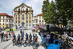 Charles Planet (FRA) of Team Novo Nordisk, David Lozano (ESP) of Team Novo Nordisk, Peter Kusztor (HUN) of Team Novo Nordisk, Umberto Poli (ITA) of Team Novo Nordisk, Andrea Peron (ITA) of Team Novo Nordisk, Brian Kamstra (NED) of Team Novo Nordisk and Joonas Henttala (FIN) of Team Novo Nordisk during 1st Stage of 26th Tour of Slovenia 2019 cycling race between Ljubljana and Rogaska Slatina (171 km), on June 19, 2019 in  Slovenia. Photo by Matic Klansek Velej / Sportida
