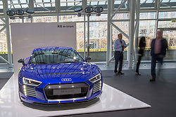 10.03.2015, Audi Forum, Ingolstadt, GER, AUDI AG Jahrespressekonferenz, im Bild Ausstellung Audi R8 e-tron // during AUDI AG Annual Press Conference at the Audi Forum in Ingolstadt, Germany on 2015/03/10. EXPA Pictures © 2015, PhotoCredit: EXPA/ Eibner-Pressefoto/ Strisch<br /> <br /> *****ATTENTION - OUT of GER*****