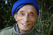A portrait of an elderly woman from Hoi An area in Vietnam