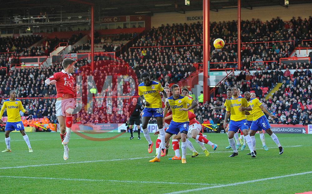 Bristol City's Joe Bryan heads towards goal  - Photo mandatory by-line: Joe Meredith/JMP - Mobile: 07966 386802 - 13/12/2014 - SPORT - football - Bristol - Ashton Gate - Bristol City v Crawley Town - Sky Bet League One