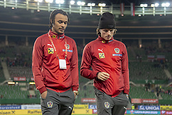 March 21, 2019 - Vienna, Austria - Valentino Lazaro and Marcel Sabitzer of Austria pictured during the UEFA European Qualifiers 2020 match between Austria and Poland at Ernst Happel Stadium in Vienna, Austria on March 21, 2019  (Credit Image: © Andrew Surma/NurPhoto via ZUMA Press)