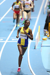 08.03.2014, Ergo Arena, Sopot, POL, IAAF, Leichtathletik Indoor WM, Sopot 2014, im Bild Abeba Aregawi (C) (Sweden) wins 1500 Metres final // Abeba Aregawi (C) (Sweden) wins 1500 Metres final during day two of IAAF World Indoor Championships Sopot 2014 at the Ergo Arena in Sopot, Poland on 2014/03/08. EXPA Pictures © 2014, PhotoCredit: EXPA/ Newspix/ Michal Fludra<br /> <br /> *****ATTENTION - for AUT, SLO, CRO, SRB, BIH, MAZ, TUR, SUI, SWE only*****