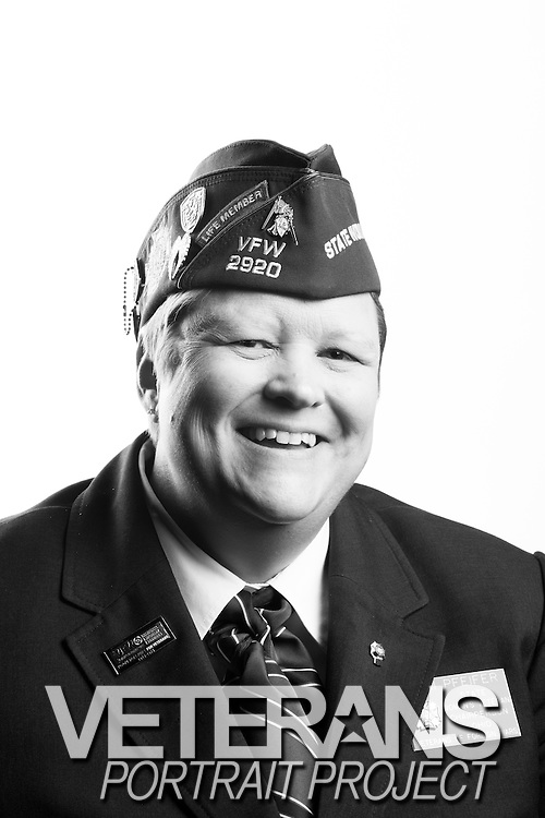 Kari Pfeifer<br /> Air Force<br /> E-7<br /> Aeromedical Services<br /> Apr. 9, 1990 - July 1, 2011<br /> Southern Watch<br /> <br /> Veterans Portrait Project<br /> St. Louis, MO