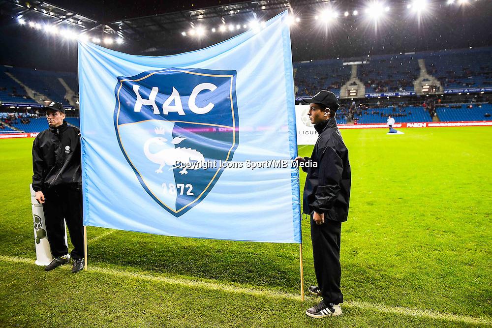 Fanion Le Havre  - 12.12.2014 - Le Havre / Laval - 17eme journee de Ligue 2 <br /> Photo : Fred Porcu / Icon Sport
