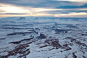 Green River Overlook in Canyonlands National Park in winter
