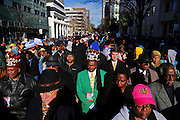 "A large crowd joined South Carolina civil rights groups as they marched to the State House for the annual ""King Day at the Dome"" in Columbia, SC, Monday, January 18, 2016."