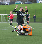 Cloe Robertson goes round the Dundee University keeper to score Dundee United Womens' team first ever goal - Dundee United Womens' team first ever game against Dundee University Ladies<br /> <br />  - &copy; David Young - www.davidyoungphoto.co.uk - email: davidyoungphoto@gmail.com