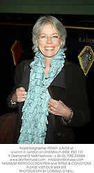 Royal biographer PENNY JUNOR at a lunch in London on 2nd March 2004.PSC 131