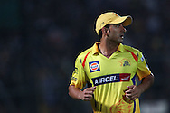 Mohit Sharma of Chennai Super Kings  during the first semi-final match of the Karbonn Smart Champions League T20 (CLT20) 2013  between The Rajasthan Royals and the Chennai Superkings held at the Sawai Mansingh Stadium in Jaipur on the 4th October 2013<br /> <br /> Photo by Ron Gaunt-CLT20-SPORTZPICS<br /> <br /> Use of this image is subject to the terms and conditions as outlined by the CLT20. These terms can be found by following this link:<br /> <br /> http://sportzpics.photoshelter.com/image/I0000NmDchxxGVv4