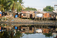 Shantytown Along River