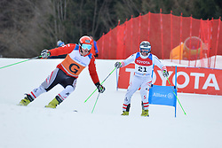 MORGENFURT Gernot Guide: GMEINER Christoph Peter, B2, AUT at 2018 World Para Alpine Skiing Cup, Kranjska Gora, Slovenia