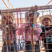 070313       Cable Hoover<br /> <br /> Tony Shirley, left, Jareden Ben and Deshaun Henry set up their gear during a PRCA camp at the Navajo Nation Fairground in Window Rock Wednesday.