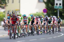 02.07.2013, Osttirol, AUT, 65. Oesterreich Rundfahrt, 3. Etappe, Heiligenblut - Matrei in Osttirol, im Bild Peleton bei der Durchfahrt in Lienz // during the 65 th Tour of Austria, Stage 3, from Heiligenblut to Matrei, Tyrol, Austria on 2013/07/02. EXPA Pictures © 2013, PhotoCredit: EXPA/ Johann Groder