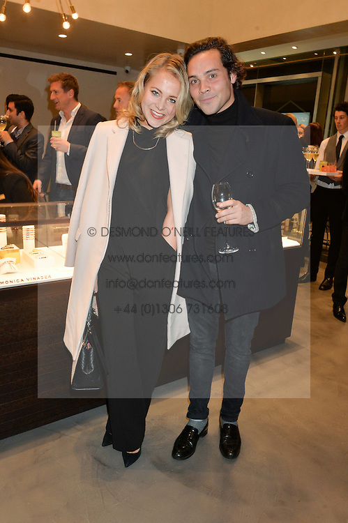 POPPY JAMIE and ANDY JORDAN at a party to celebrate the launch of the Monica Vinader London Flagship store at 71-72 Duke of York Square, London SW3 on 4th December 2014.