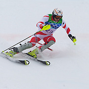 Winter Olympics, Vancouver, 2010.Marc Gini, Switzerland, in action during the Alpine Skiing, Men's Slalom at Whistler Creekside, Whistler, during the Vancouver Winter Olympics. 27th February 2010. Photo Tim Clayton
