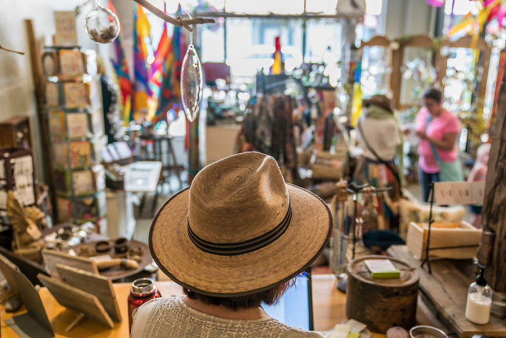 Shopping in downtown Marquette, Michigan