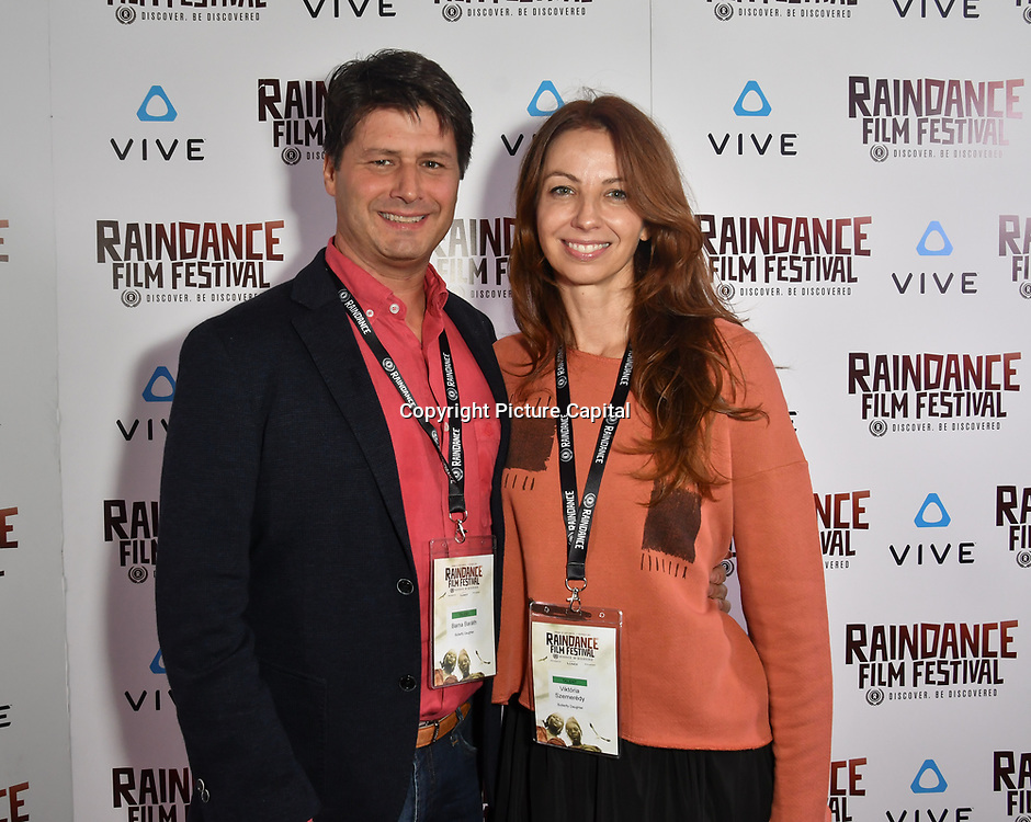 Barna Baraht and Viktória Szemerédy - The Butterfly's Daughter Nominated attends the Raindance Film Festival - VR Awards, London, UK. 6 October 2018.