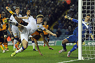 Ahmed Elmohamady of Hull City heads home the teams goal during the Sky Bet Championship match at Elland Road, Leeds<br /> Picture by Graham Crowther/Focus Images Ltd +44 7763 140036<br /> 05/12/2015