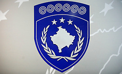 PRISTINA, KOSOVO - DECEMBER 14 - Grb Kosova