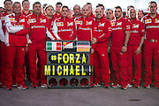Circuito de Jerez, Spain : Formula One Pre-season Testing 2014. Scuderia Ferrari message for Michael Schumacher.