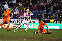 Photo: Rich Eaton.<br /> <br /> West Bromwich Albion v Luton Town. Coca Cola Championship. 12/01/2007. Jason Koumas left scores for West Brom late in the first half