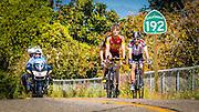 Professional cyclists at the Amgen Tour of California, Santa Barbara, California USA