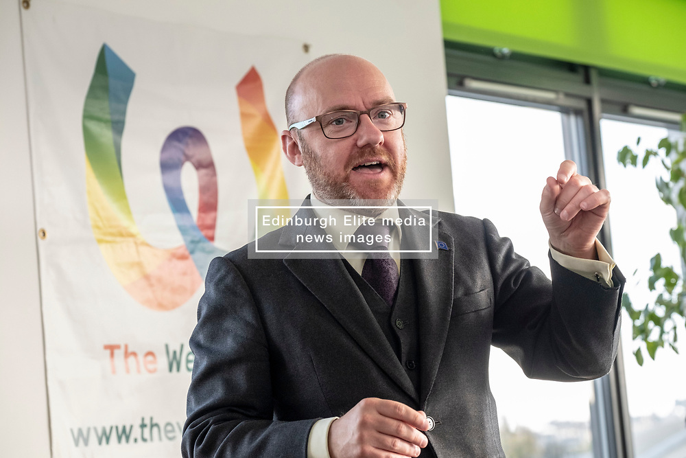 Pictured: Patrick Harvie<br /><br />The Scottish Greens unveiled their list of candidates for the forthcoming EU election in Edinburgh today.<br /><br />The party's Co-Convenor Patrick Harvie MSP introduced the lead candidate, Maggie Chapman, and announced the full list at the Welcoming Association's HQ.  Mr Harvie and Ms Chapman took the opportunity to meet with EU citizens who are new to Edinburgh and learning English at the centre.<br /><br />The full list is as follows:<br />1.    Maggie Chapman<br />2.    Lorna Slater<br />3.    Gillian Mackay<br />4.    Chas Booth<br />5.    Mags Hall<br />6.    Allan Faulds<br /><br />Ger Harley | EEm 25 April 2019