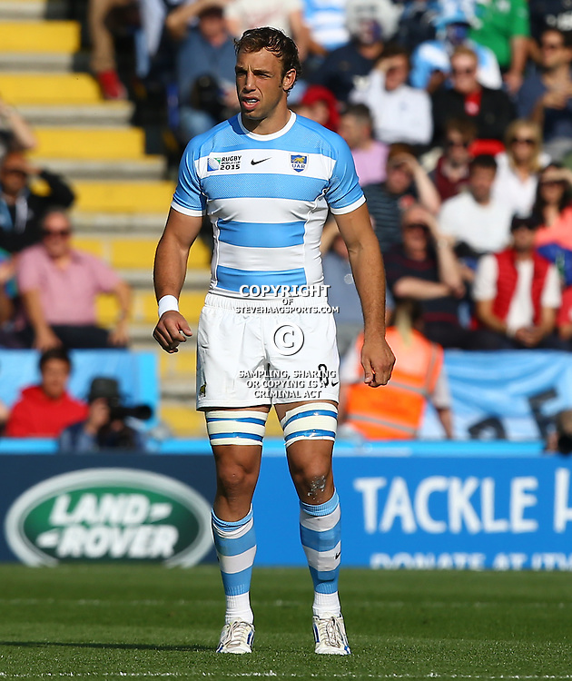 LEICESTER, ENGLAND - OCTOBER 04: Leonardo Senatore of Argentina during the Rugby World Cup 2015 Pool C match between Argentina and Tonga at Leicester City Stadium on October 04, 2015 in Leicester, England. (Photo by Steve Haag/Gallo Images)