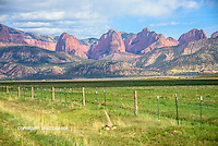 Beautiful view of Kolob in Zion from the New Harmony area.