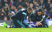 Oscar injury during the The FA Cup match between Chelsea and Watford at Stamford Bridge, London, England on 4 January 2015. Photo by Matthew Redman.
