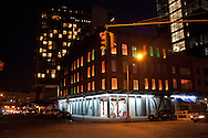 New York The meat packing district at night  . Diane von Furstenberg shop and building